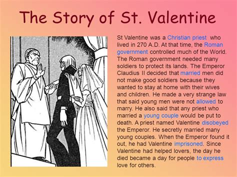 valentines day story for st valentine s day february 14th ppt