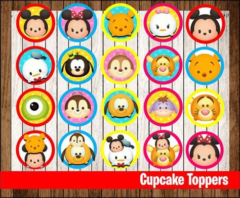 Shower Cap Tsum Tsum 80 sale tsum tsum cupcakes toppers by mrkitspartyshop