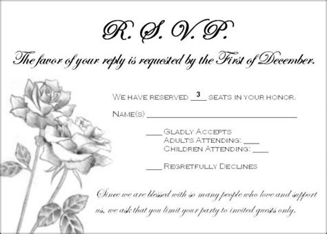 how to word wedding response cards with meal choices need wording help addressing guests who rsvp d for