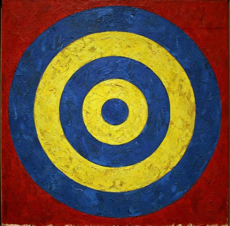 what of is the target what was the target in jasper johns paintings agenda phaidon