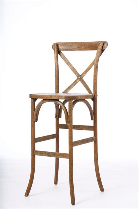 X Back Bar Stool by Bar Stool Driftwood X Back Professional Rentals