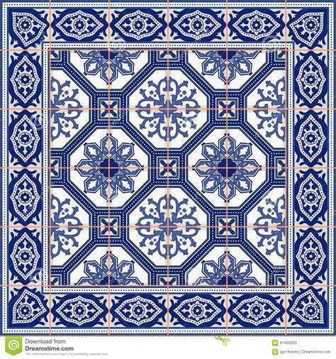 azulejo pattern gorgeous seamless pattern from tiles and border moroccan