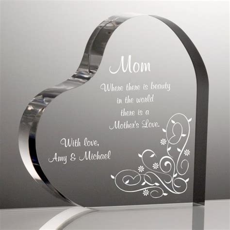 Alized Heart Plaque For Mom Engraved Mothers Day