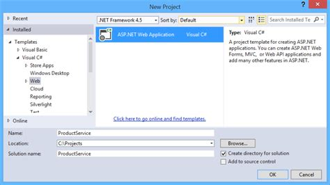 templates for asp net web application create an odata v4 endpoint using asp net web api 2 2