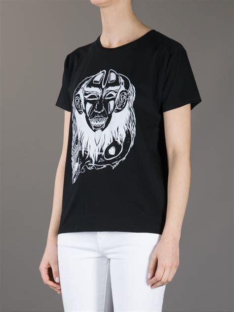 Wgt03 Crop Kaos Tshirt lyst laurent printed tshirt in black
