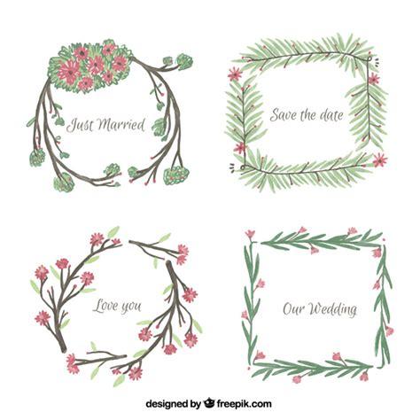 cornici gratis da scaricare cornici floreali per matrimoni scaricare vettori gratis