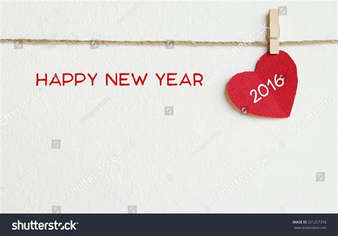 Happy New Year Word Fabric With Happy New Year 2016 Word Hanging On