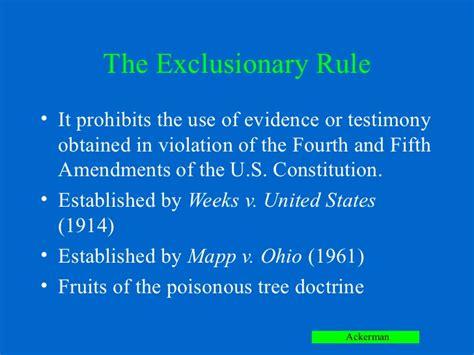fruit of the tree doctrine chapter 6 ackerman