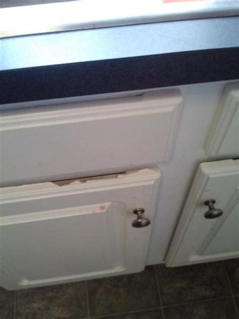 peeling white cabinets doityourself community forums
