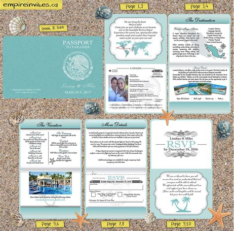 wedding invitations vancouver bc custom destination passport wedding invitations canada