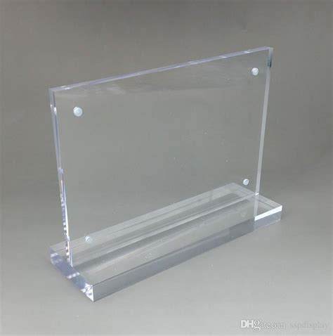 Display Acrylic A4 Horizontal clear acrylic a3a4a5a6 dl sign display paper card label advertising menu holders horizontal t