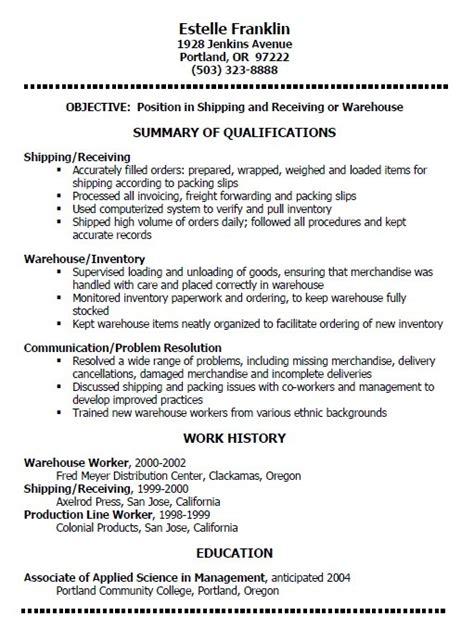 18 Free Warehouse Manager Resume Sles Sle Resumes Warehouse Manager Resume Template Free