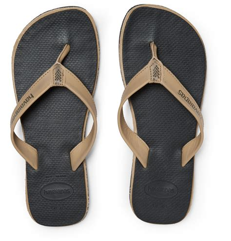 Havaianas Leather 3 lyst havaianas premium leather and rubber flip