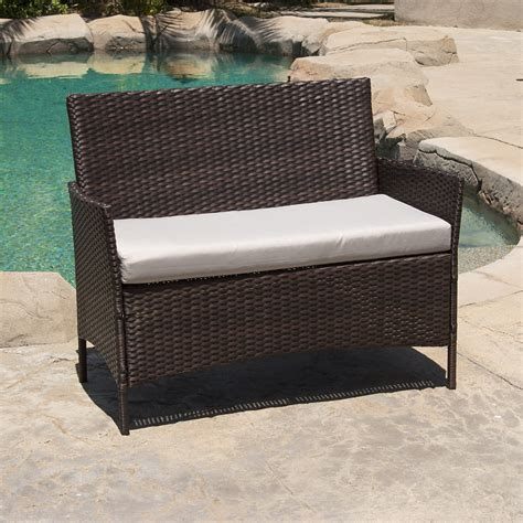 pe wicker outdoor furniture 4 pc rattan furniture set outdoor patio garden sectional pe wicker cushion sofa ebay