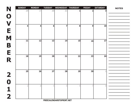 free printable calendar november december 2012 free calendars to print free calendars to print 2012