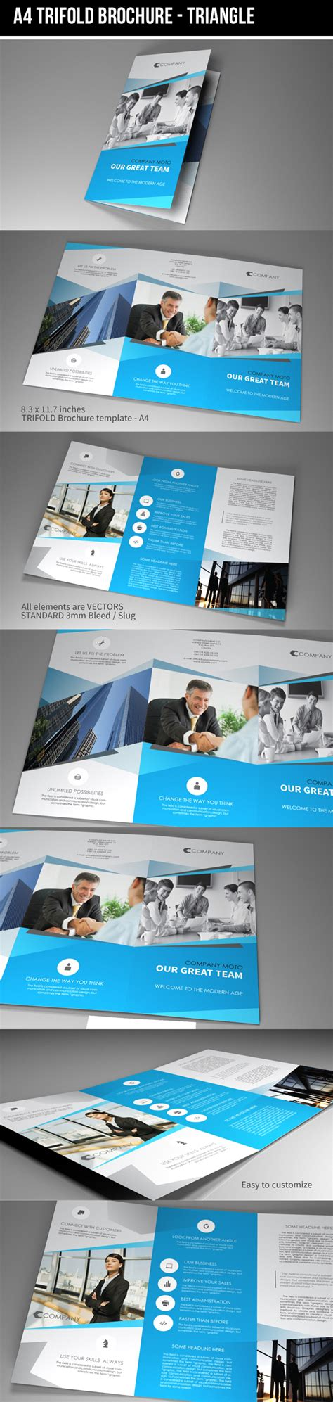 template indesign brochure a4 indesign template a4 trifold brochure triangle on behance