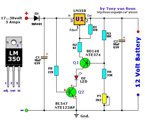 lead acid charger lead acid battery charger schematic diagram simple