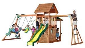 saratoga swing set the fantastic full featured saratoga swing set has monkey