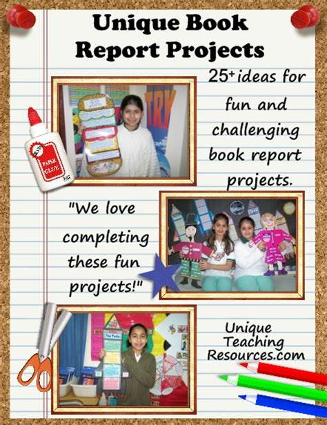 Creative Book Reports For 6th Graders by 25 Book Report Templates Large And Creative Book Report Projects