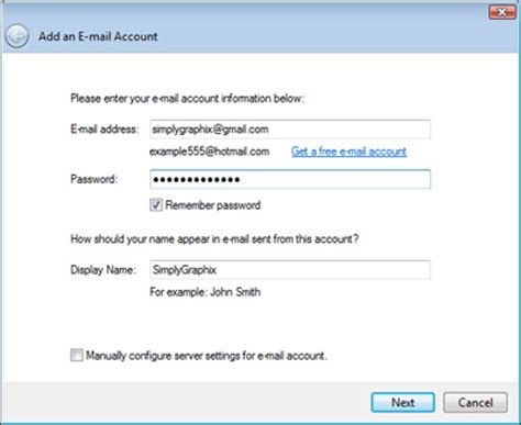 configure xp e mail how to configure email account through window live photo email