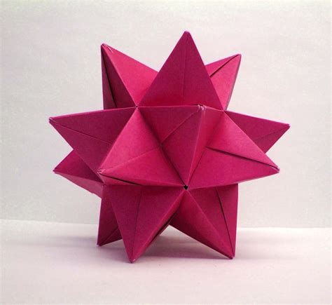 What Is Modular Origami - origami modular origami magenta small size 194
