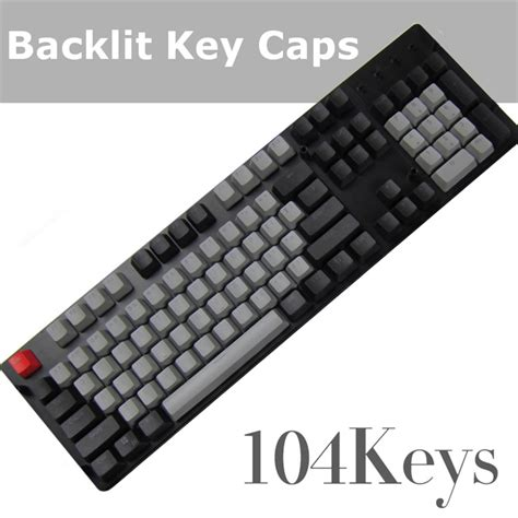 Dijamin Goodgame Keycaps 104 Grey 104 white gray translucent pbt backlit key caps small font