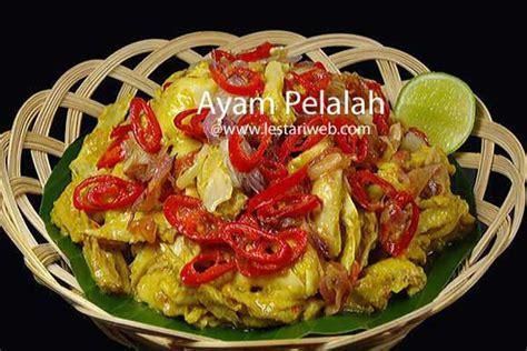 kumpulan resep asli indonesia ayam pelalah