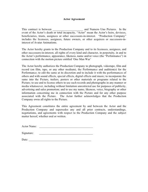 Music Production Agreement Template Video Production Contract 6 Free Templates In Pdf Word Actor Contract Template