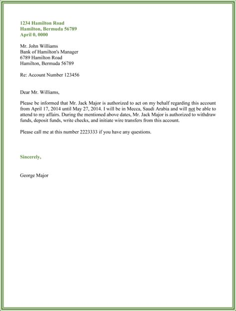 authorization letter samples formats templates