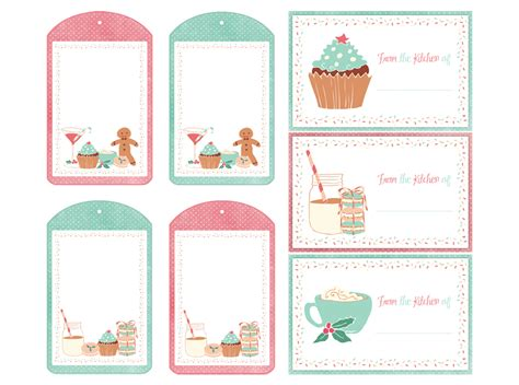 free printable christmas gift tags for food holiday labels tags free printables and more the