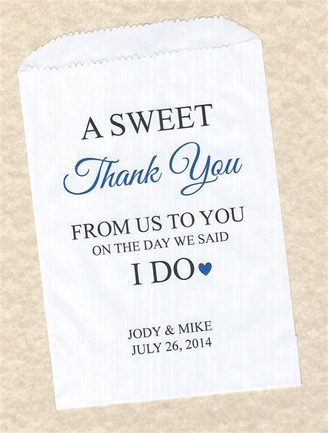 50 sweet thank you wedding personalized candy buffet party