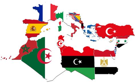 mediterranean countries map mediterranean countries flag map by captainvoda on deviantart
