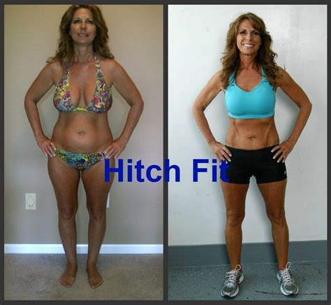 50 year old women before and after hitch fit online personal training client gets in amazing