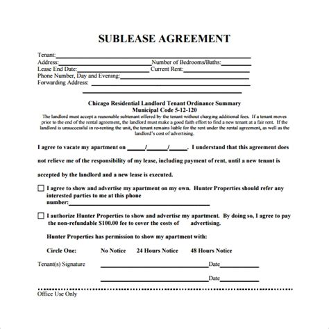 23 Sle Free Sublease Agreement Templates To Download Sle Templates Sublease Contract Template