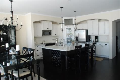 white kitchen cabinets with black island kitchen black and white kirstie alterator s blog