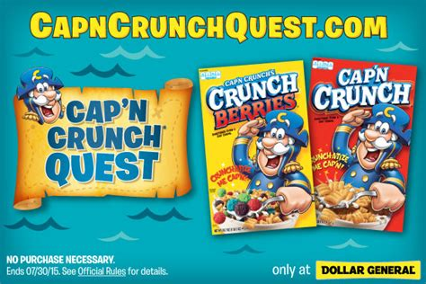 Win 100 Dollars Instantly - play cap n crunch treasure quest daily instant win game sweepstakes to win up to