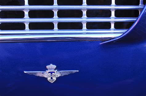 1962 maserati 3500 gt emblem photograph by reger
