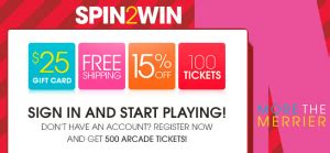 Hsn Gift Card Spin 2 Win Instant Win Game - hsn spin 2 win instant win sweepstakes win a 25 hsn gift card