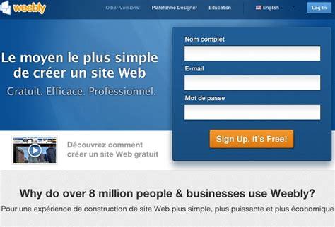 Créer Site Professionnel Gratuit by Cr 195 169 Ation D Un Site Gratuit Et Facile