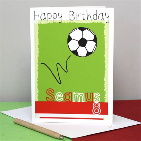 football birthday cards to make personalised football team birthday card by liza j design