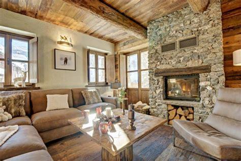 diseno rustico de una casa interiores  fachada  madera  piedra