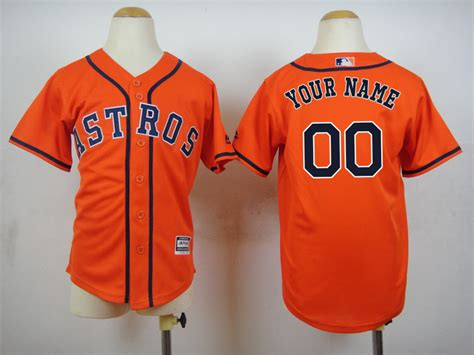 aliexpress jerseys baseball 2015 new houston astros kids jerseys 00 your name orange