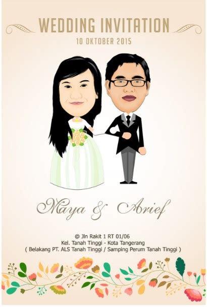 desain undangan pernikahan animasi 19 kartu undangan pernikahan lucu unik dan romantis