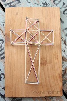 Simple String Patterns - diy easter cross simple string for looking for