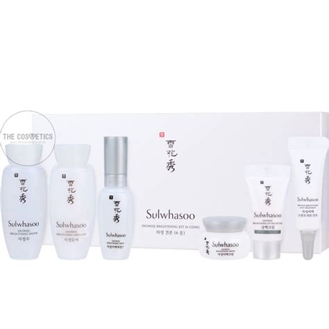 the cosmetics sulwhasoo snowise brightening kit 6 items