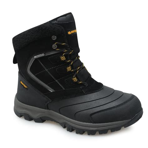Rugged Outdoor Boots Hi Tec Mens Snow Cap Boots Fabric Suede Rugged Hiking Footwear Outdoor Ebay