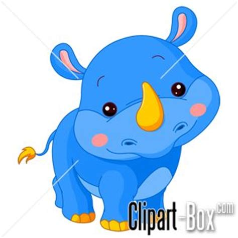 clipart blue rhino cartoon art pinterest rhinos