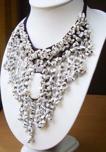 Semi Precious Handmade Jewelry - vintage costume jewelry necklace semi precious with
