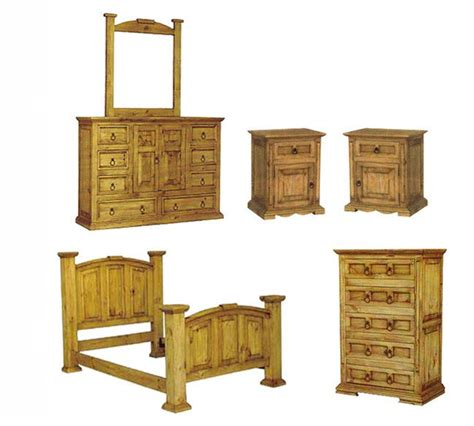 rustic pine bedroom furniture san carlos rustic pine bedroom set