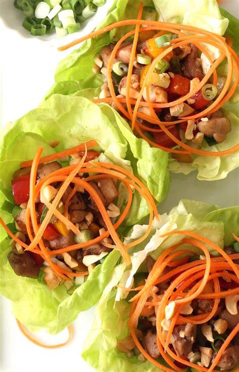 new year lettuce chicken lettuce cups season with spice